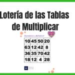 lotería de tablas de multiplicar para imprmir