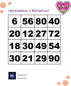 tablas de multiplicar loteria
