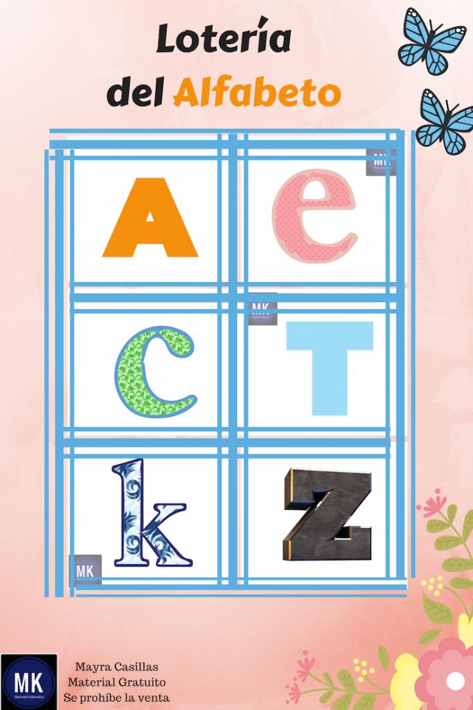 Clics Impresiones lotería de abecedario para imprimir gratis pdf