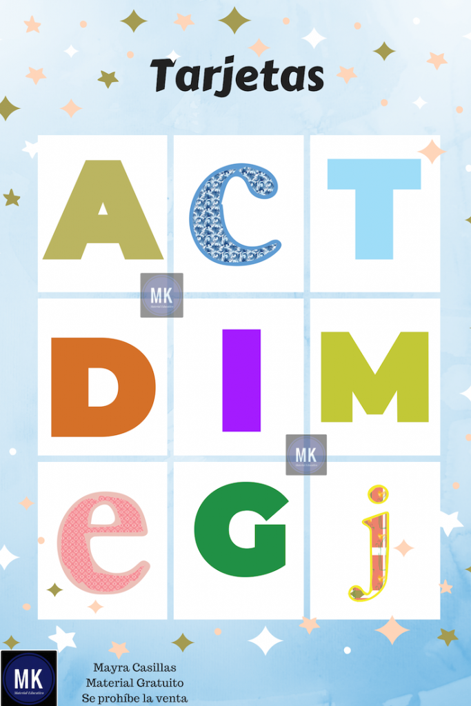 lotería de abecedario para niños pdf