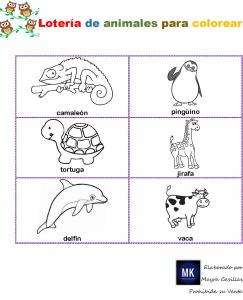 lotería de animales pdf
