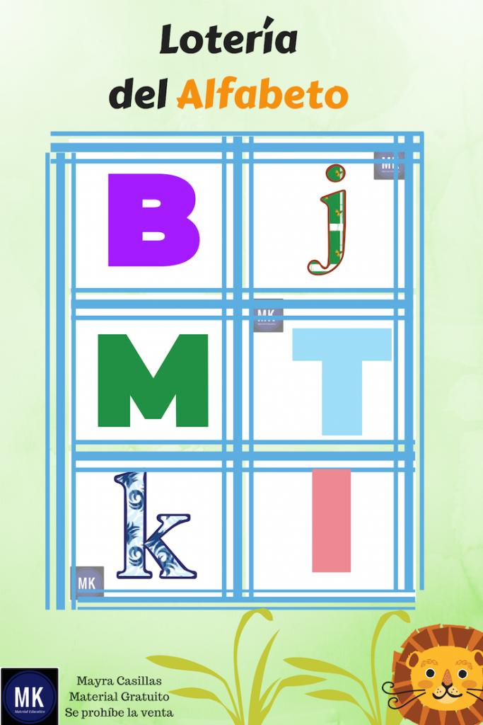 loteria del abecedario para imprimir pdf