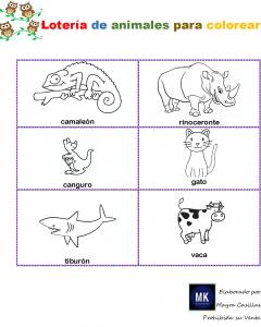 loteria de animalitos para imprimir