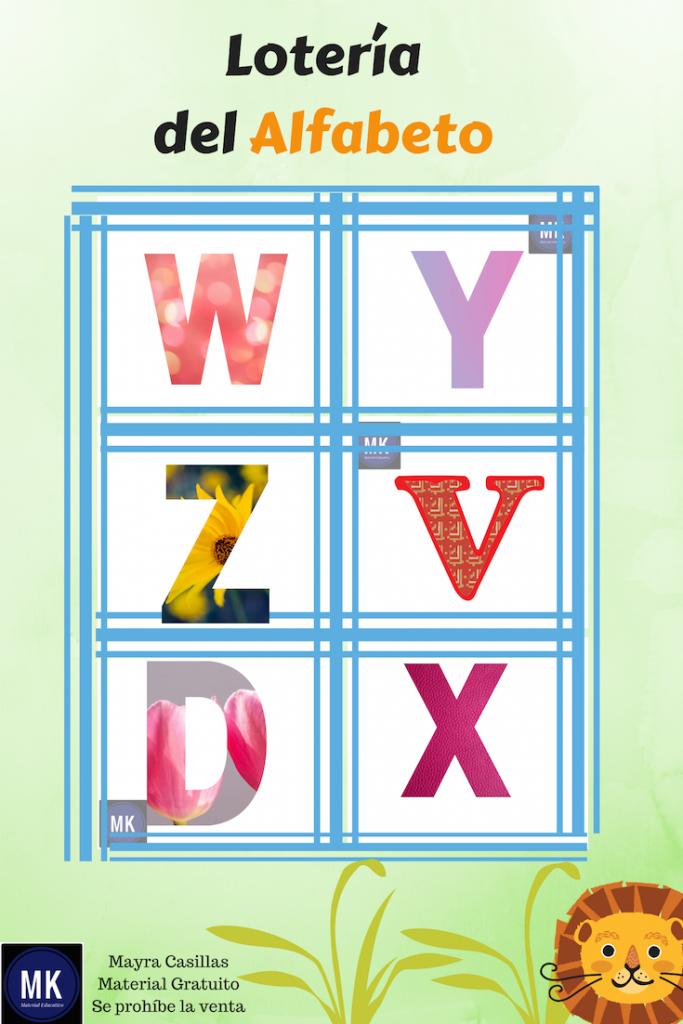 abecedario loteria para imprimir