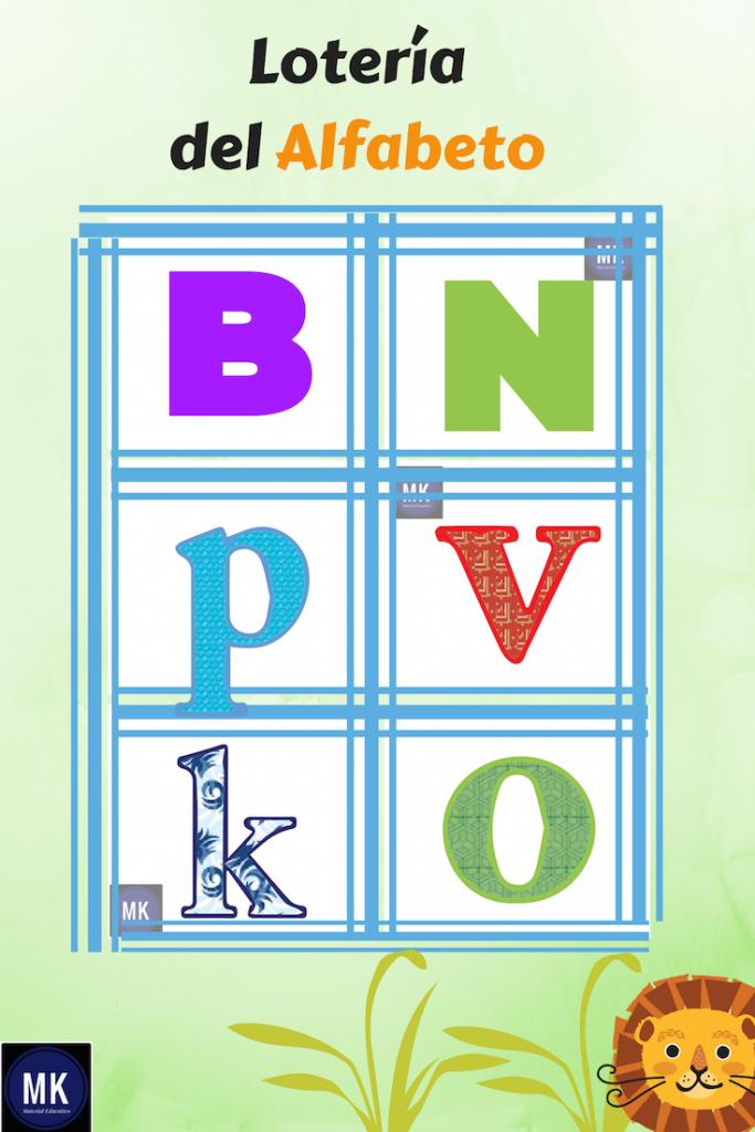 loteria de abecedario para niños pdf