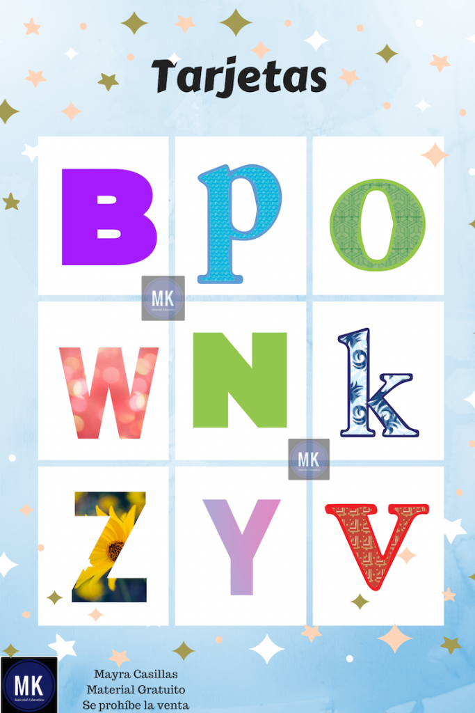 loteria del alfabeto para imprimir