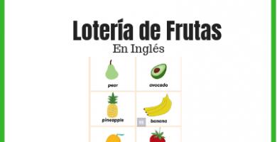 lotería de frutas en inglés