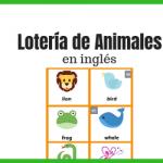lotería de animales en inglés