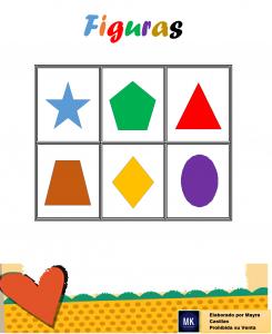 lotería de figuras geométricas para nivel inicial