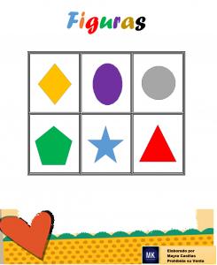 lotería de figuras geométricas para colorear