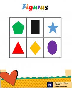 lotería de figuras geométricas preescolar
