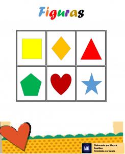 lotería de figuras geométricas básicas