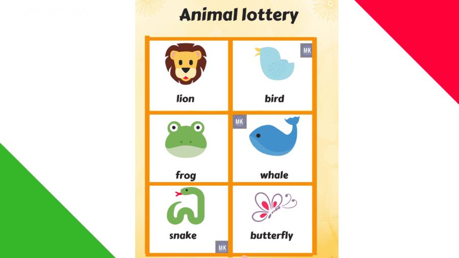 Loter a de animales en ingl s para imprimir gratis for Como hacer una granja de peces
