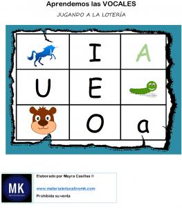 bingo de las vocales pdf