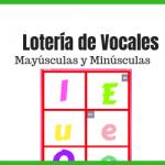 Lotería de vocales mayúsculas y minúsculas