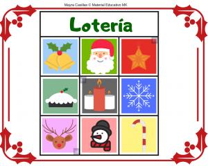 lotería navidad imprimible