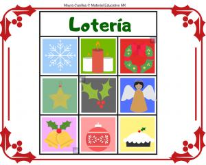 juego de loteria de navidad para imprimir
